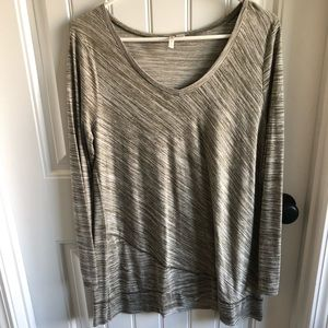 Cato Large Olive/Cream Tunic